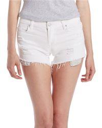 Sl8 Frayed Shorts - White