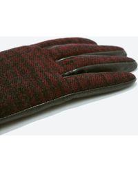 Zara Combined Gloves - Lyst