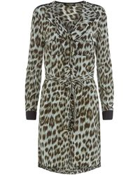faacceb645 Juicy Couture - Leopard Print Shirt Dress - Lyst
