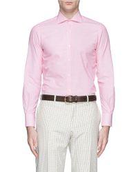 Lardini Lightweight Pinstripe Poplin Shirt - Lyst