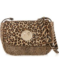 Hill & Friends Happy Mini Animal-print Calf Hair Shoulder Bag - Multicolor