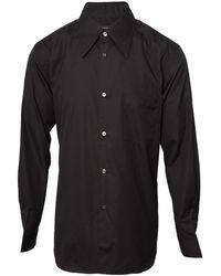 Comme Des Garçons Classic Button Cotton Shirt Black - Lyst