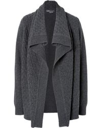 Vince Woolcashmere Textured Open Cardigan - Lyst