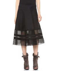 Donna Karan New York Suspension Circle Skirt Black - Lyst