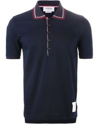 Thom Browne Piped Collar Polo Shirt - Lyst