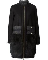 Moncler 'Regle' Overcoat - Lyst