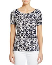 Jones New York - Graphic Print Tee - Lyst