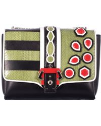 "Paula Cademartori ""Alice"" Bag With Green Reptile Detailes multicolor - Lyst"