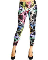 Versus  Trouser Leggings Macro Barocco Print - Lyst