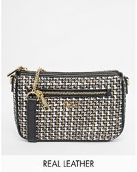 Modalu - Chelsea Checked Shoulder Bag With Chain Strap - Lyst