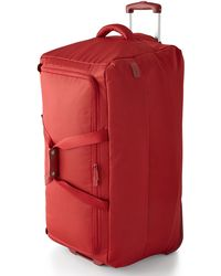 Lipault Red Two-wheeled 30 Rolling Duffel - Lyst