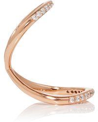 Fallon - Rose Gold Pavé Infinity Ring - Lyst