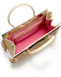 Dee Ocleppo - Roma Leather & Rattan Convertible Tote - Lyst