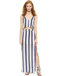 Capulet - Flared Cropped Camisole - Navy Stripe - Lyst