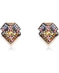 River Island Gold Tone Beaded Stud Earrings - Lyst