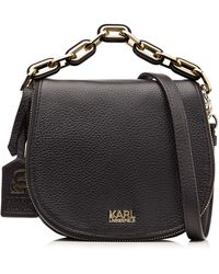 Karl Lagerfeld Cross-Body Leather Bag - Lyst