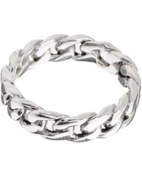Seven London Sterling Silver Chain Ring Exclusive To Asos - Metallic