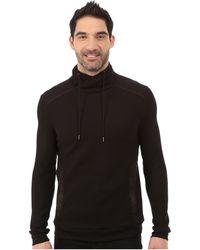 Calvin Klein   Long Sleeve 1/2 Zip Pullover Interlock Jacquard Funnel   Lyst