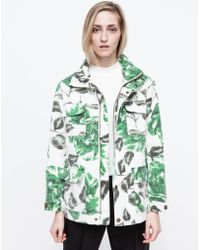 Ganni Huntington Canvas Jacket green - Lyst