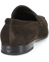 Tod's | Suede Penny Loafers | Lyst