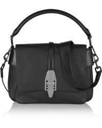 Theyskens' Theory Willa Leather Shoulder Bag - Black