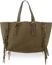 Valentino Crockee Leather Fringe Tote Bag - Lyst