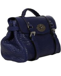 Mulberry Handbag Alexa Medium Shrunken Calf Wth Gold - Lyst