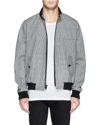 Band Of Outsiders Coated Houndstooth Tweed Wool Jacket - Lyst