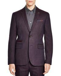 Ted Baker Bayvil Birdseye Regular Fit Sport Coat - Purple