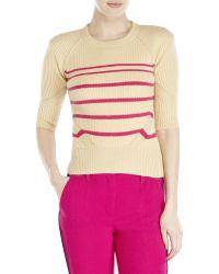 Sonia by Sonia Rykiel Camel Stripe Wool Sweater - Lyst