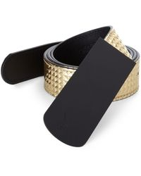 Giuseppe Zanotti Printed Metallic Leather Belt - Lyst