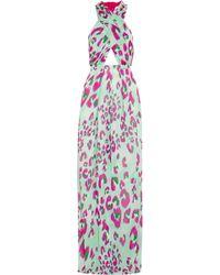 Matthew Williamson Electro Leopard Printed Jersey Maxi Dress - Lyst