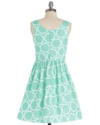 ModCloth Air Of Adorable Dress in Dotted Mint - Lyst