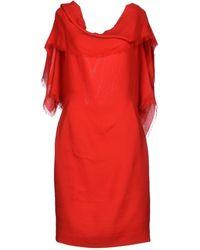 Gareth Pugh Red Short Dress - Lyst