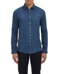 John Varvatos Linen Slim-Fit Shirt - Lyst