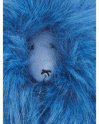 Shrimps Lenny Mascot Faux-Fur Bag Charm - Blue