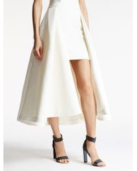 Halston | Hi Lo Satin Faille Skirt | Lyst