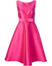 P.A.R.O.S.H. 'Polk' Bow Detail Dress - Lyst