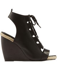 Pierre Hardy Leather Wedges - Lyst