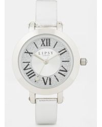 Lipsy - Watch with Leather Look Strap - Lyst