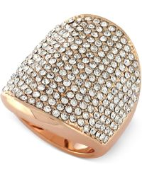 Vince Camuto - Crystal Pavé Shield Ring - Lyst