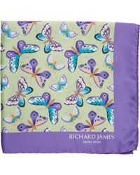 Richard James - Butterfly Pocket Square - Lyst