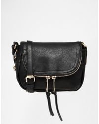 Oasis - Fold Over Zip Detail Cross Body Bag - Lyst