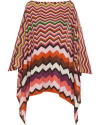 Missoni Multicoloured Zigzag Poncho - Lyst