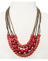 Greenola Style Red Multistrand Acai Necklace