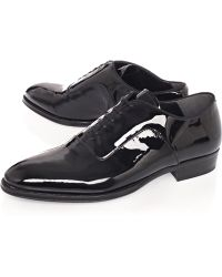 Alexander McQueen Black Patent Leather Oxford Shoes - Lyst