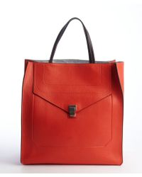 Proenza Schouler Chili Red Leather 'Ps1' Convertible Tote Bag - Lyst