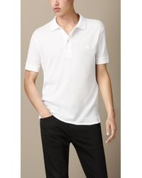Burberry Cotton Jersey Polo Shirt - Lyst