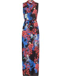 Mary Katrantzou Tinda Silk Maxi Dress - Lyst