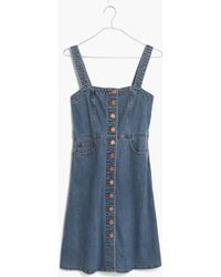 Madewell Denim Overall Dress - Blue
